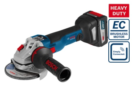 "BOSCH GWS 18V-LI - 5"" Cordless 18V Angle Grinder (Tool only)"