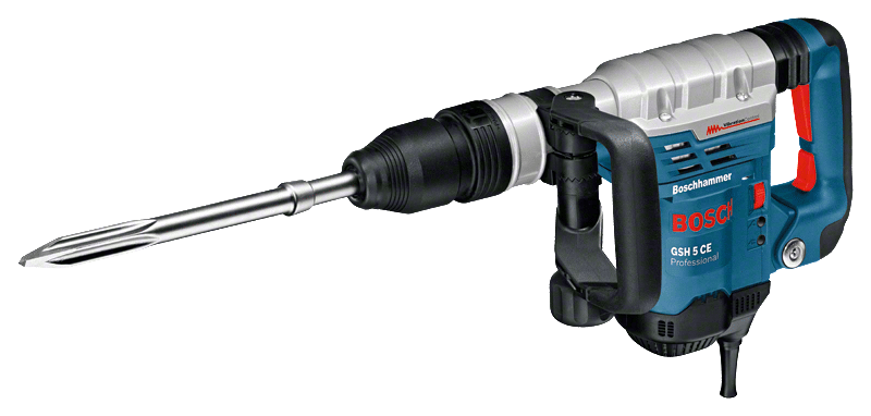 BOSCH GSH 5CE - 5.6Kg 2-8.3J Demolition Hammer with Electronic Variable Speed Control