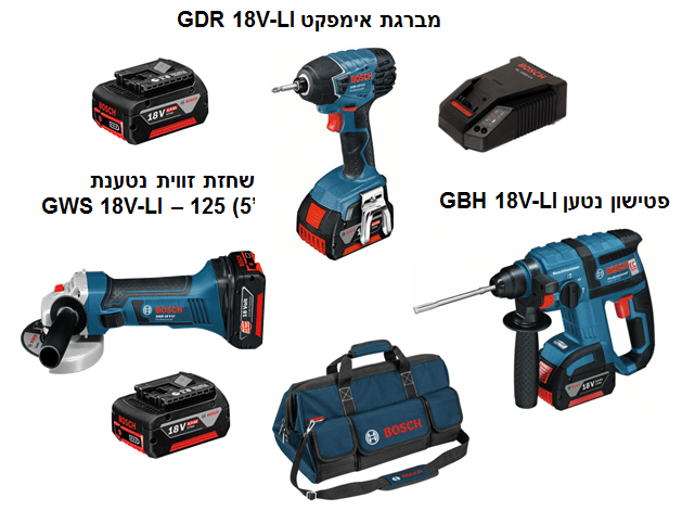 BOSCH 15990.HH3 - 3pc 18V Cordless Tool Set Brushless Rotary Hammer+Impact Drill Driver+Angle Grinder+2x6A/Hr Batteries+