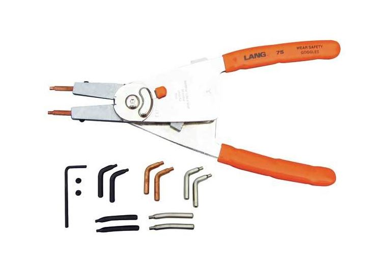 "12"" Quick Switch Retaining Ring Pliers with Automatic Ratchet Lock and Tip kit"