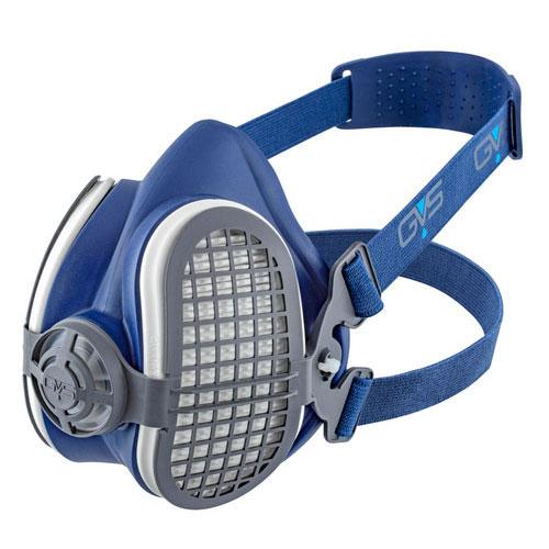 GVS Elipse P3 - מסכת חצי פנים מקצועית P3 להגנה מאבק, רסס ואדים רעילים כולל זוג מסננים EN140 EN143