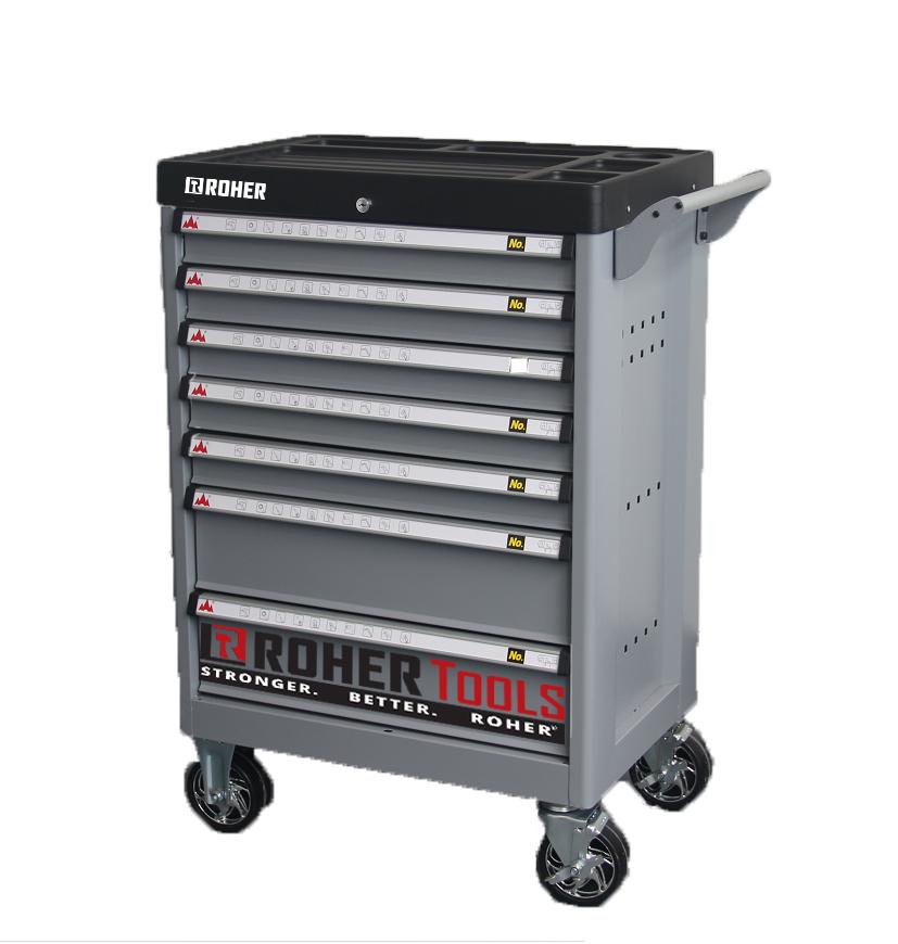 Tool Cabinet 7 Drawers ROHER Grey w/Interlock