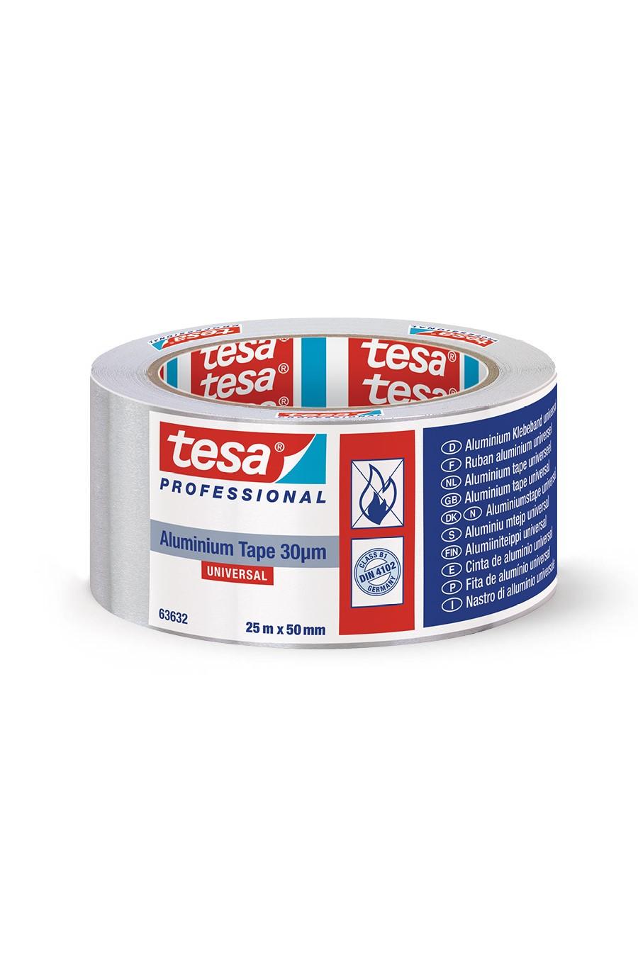 TESA 63632 - 50mm 25m Supple Aluminum Adhesive Tape