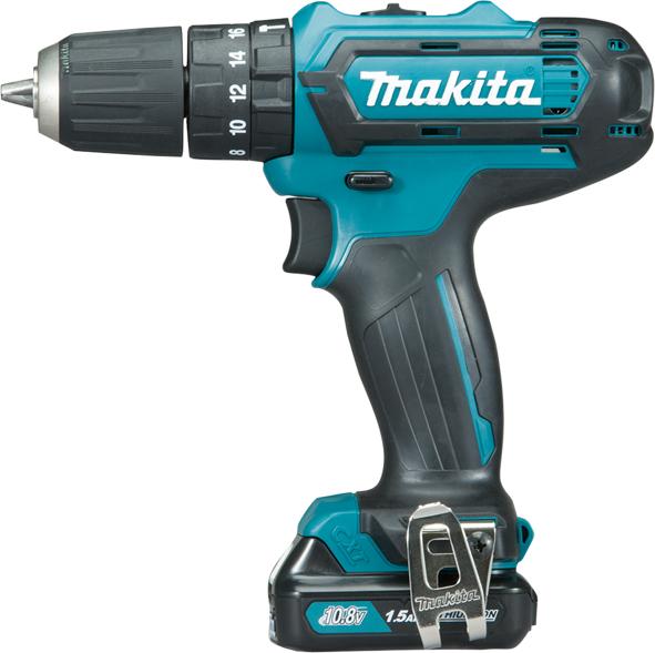 MAKITA HP331DWYE - 10.8V Cordless Combi Drill Driver w/2x1.5Ah Batteries
