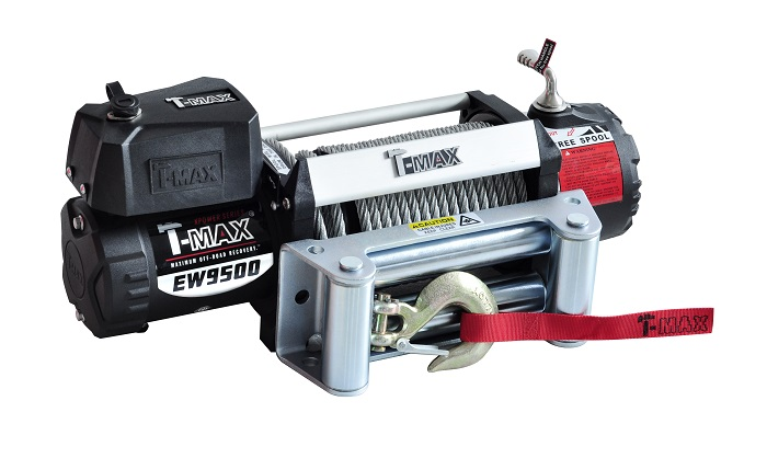 Electric Winch 12V T-MAX X-Power-9500 with Roller Fairlead