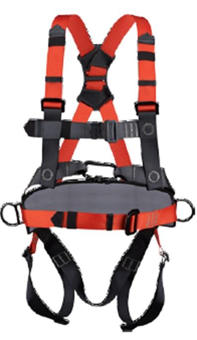 ריתמת בטיחות מקצועית PALOMA חיבורים מהירים, חגורת מותן ו-4 נקודות עיגון