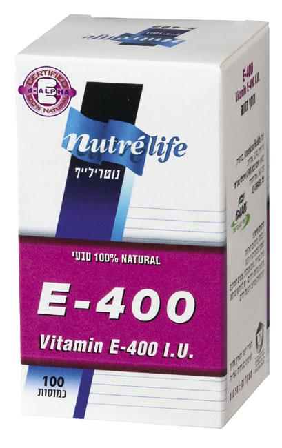 ויטמין E-400 קפס100 שומני - נוטרילייף
