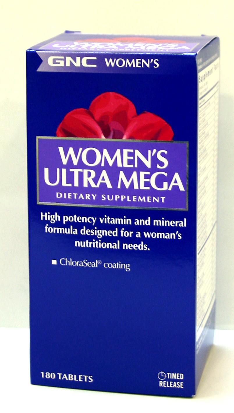מולטי ויטמין לאישה - אולטרה מגה וומן 180 טבליות