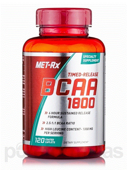 BCAA 1800 time release 120 caps