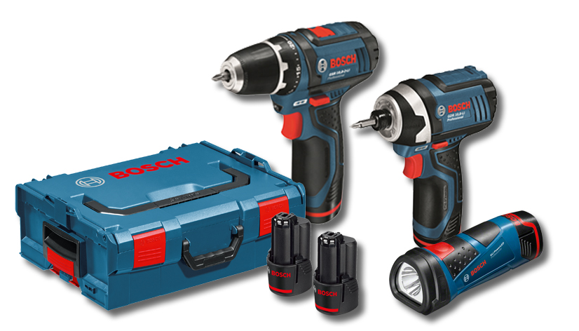 BOSCH 15990.G4 - 10.8V 2pcs Tool Set w/2x1.5A Batteries & LBOXX