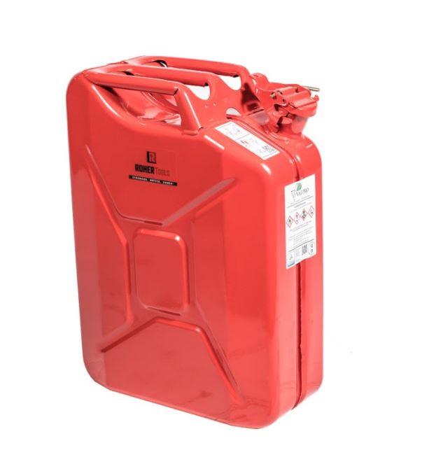 ג'ריקן מתכת 20 ליטר - צבע אדום