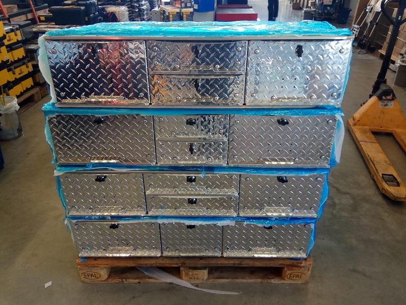 """מערכת זיווד (36+42+36) למסחרי קטן נפח 200 ליטר מגירה כפולה (118x70x25 ס""""מ)"""