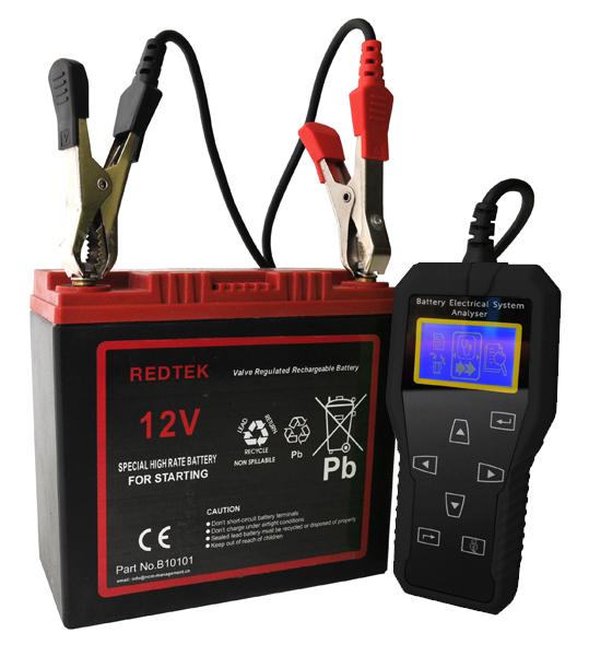 T5- בודק מצברים, סטרטר ואלטרנטור 12V דיגיטלי עד 2000 אמפר, חיבור למחשב
