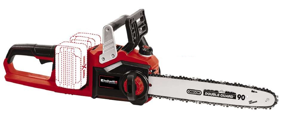 "EINHELL GE-LC 36/35 LI -14""  2x18V Brushless Cordless Cain Saw w/2x4A Batteries"