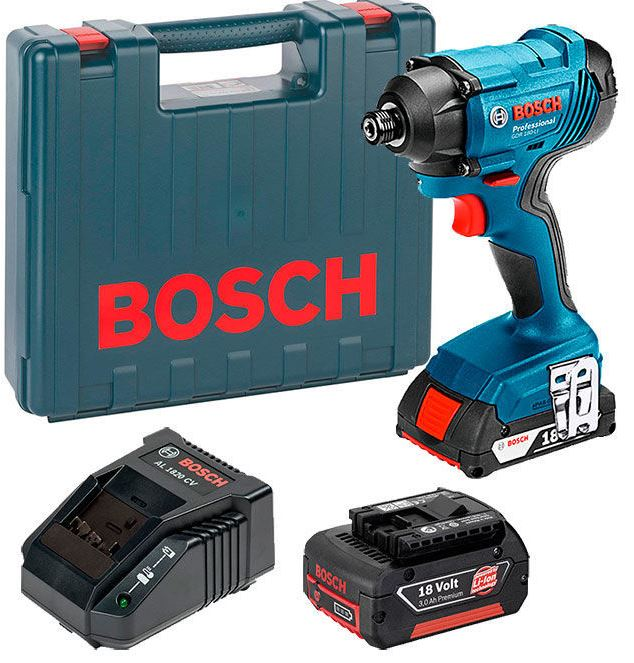 BOSCH GDR 180-Li - 18V Cordless Impact Driver w/2x3A Batteries