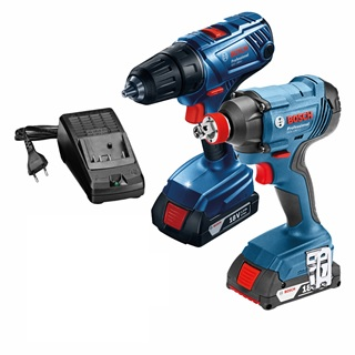 BOSCH 15990.L03 - 18V Cordless Combo Kit GDX + GDR w/2x1.5A Batteries