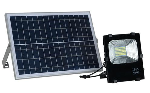 זרקור תאורת הצפה סולארי 50W LED+שלט אלחוטי