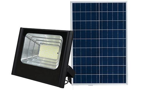 זרקור תאורת הצפה סולארי 100W LED+שלט אלחוטי