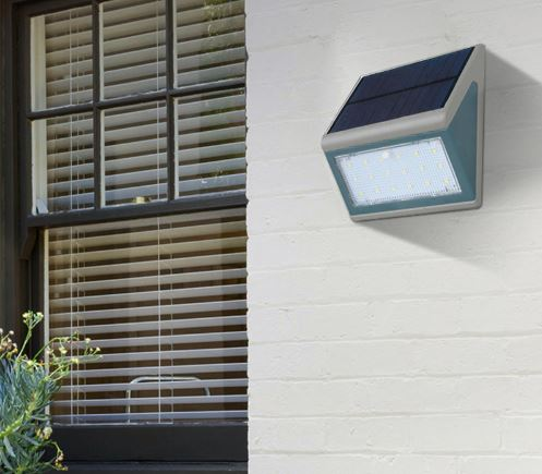 Solar Powered 5W LED Wall Mounted LED Light with Microwave Sensor