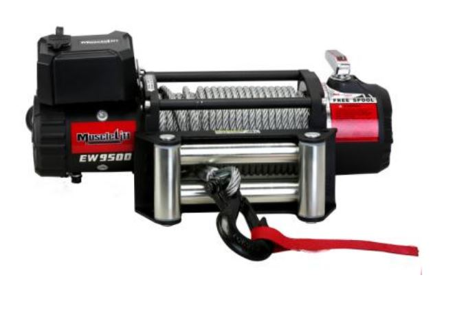 Electric Winch 12V MUSCLELIFT EW9500 with Roller Fairlead
