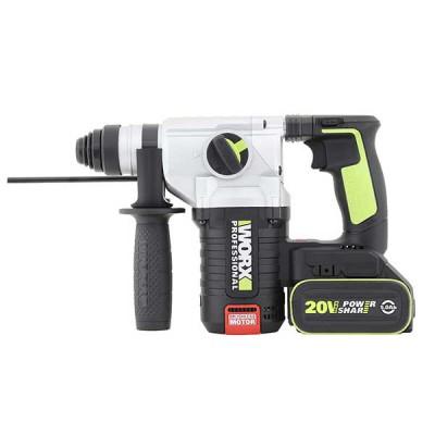 WORX WU388 - 20V Cordless 2.2J Rotary Hammer w/2x4A Batteries