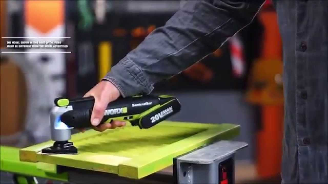 WORX WU677.2 - 20V Cordless Multi-Tool w/2x2A Batteries