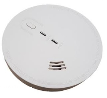 220V Smoke Detector w/9V Backup Battery
