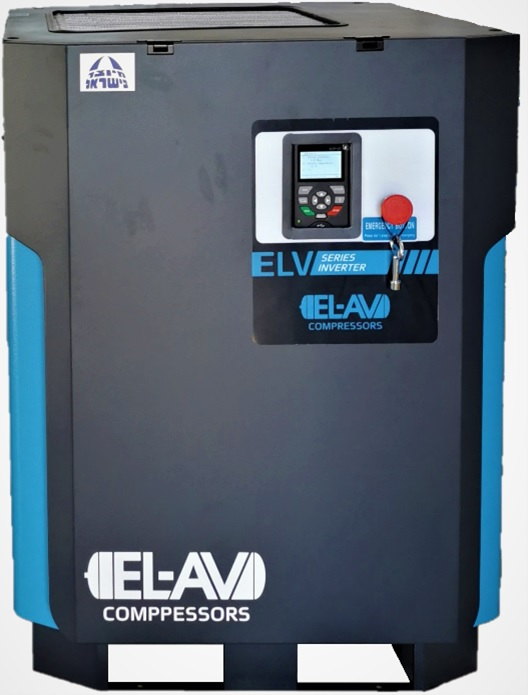 ELV 10HP - 380V 230-1,120l/min VSD Magnetic Motor Rotary Screw Air Compressor