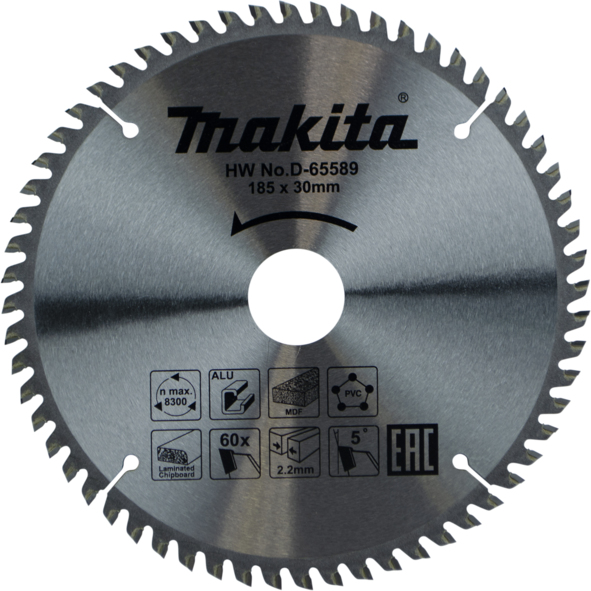 MAKITA D-63622 - 185mm 60T Multi-Purpose Circular Saw Blade