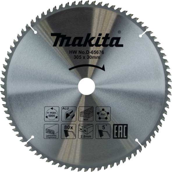 MAKITA D-63579 - 305mm 80T Multi-Purpose Circular Saw Blade