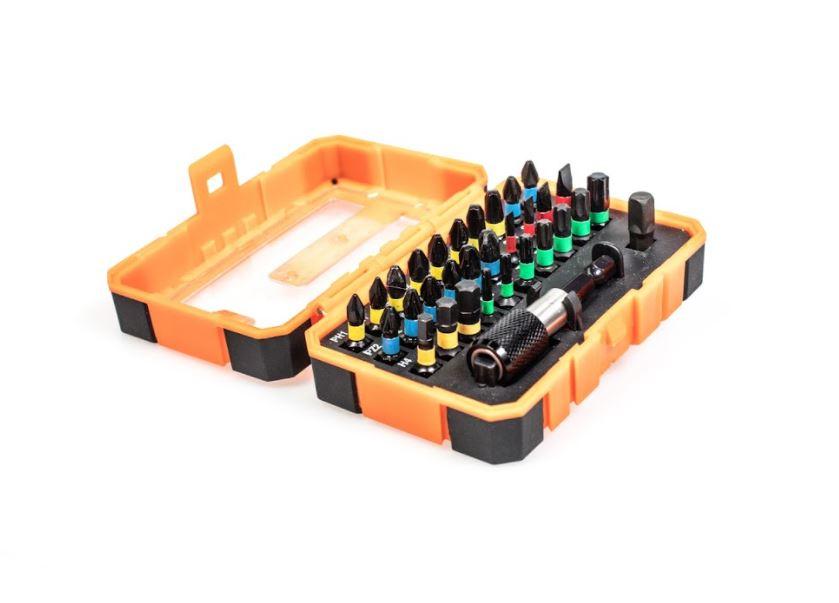 32pc S2 Magnetic Impact Bit Set in Plastic Case