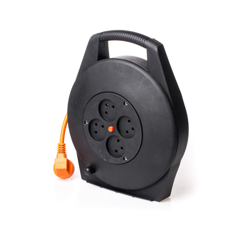 Electrical Cable Reel 10M 3X1.5mm² with 4 Sockets & Thermal Cutout