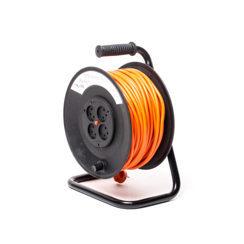 DEKO DCR50 - Electrical Cable Reel 50M 3X1.5mm² with 4 Sockets & Thermal Cutout