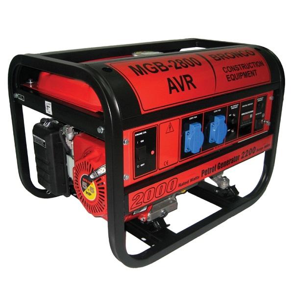 BRONCO MGB-3800 - 2800W Gasoline Generator w/ AVR