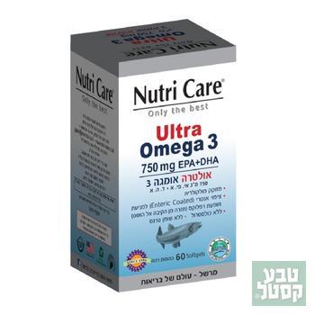 אולטרה אומגה 3 60 כמוסות רכות NUTRI CARE