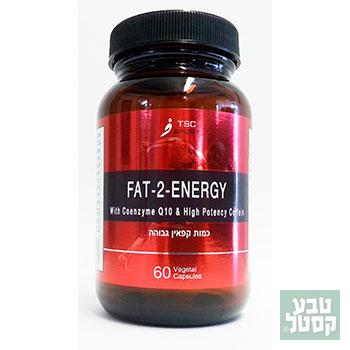 60 כמוסות - שורף שומן FAT-2-ENERGY TSC