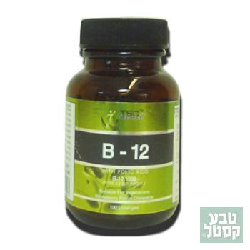ויטמין B-12 מכיל 100 כמוסות מבית TAB TSC