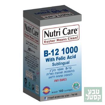 B12 + חומצה פולית 100 טבליות - נוטריקר