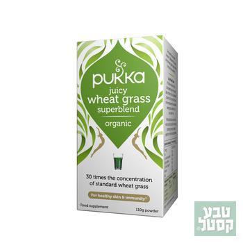 מיץ עשב חיטה אבקה 110 גרם - פוקה