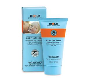קרם טבעי לתינוק להגנה SPF 50 - מורז