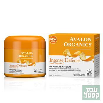 קרם פנים ויטמין C מחייה 57 גרם אבלון אורגניקס