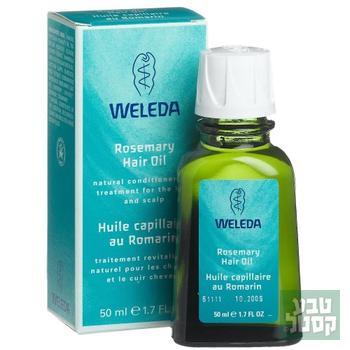 שמן לשיער לטיפוח השיער ולאיזון עור הקרקפת 50 מ'ל - WELEDA