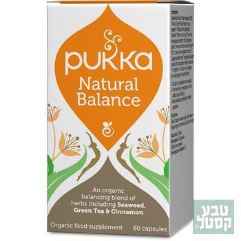 BALANCE איזון טבעי 60 כמוסות PUKKA