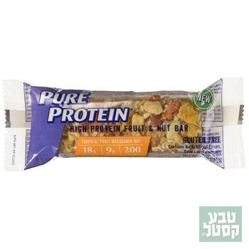 חטיף חלבון פירות מקדמיה 53 גרם Pure Protein