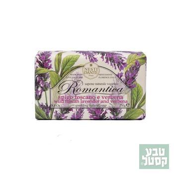 סבון טבעי רומנטיקה פרחי לבנדר טוסקני וורבנה 250 גרם NESTI
