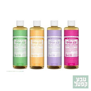 סבון נוזלי אורגני 100% טבעי 946 מ'ל DR. BRONNER